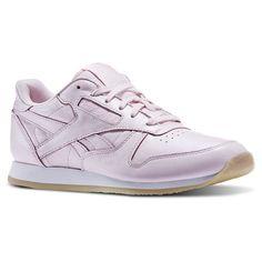 Reebok Chaussures De Sport En Cuir Classique Roze Nacré Femmes - - Ds0D1