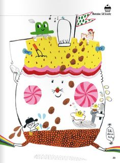 """Lili Scratchy illustration from French kid's magazine """"Georges"""""""