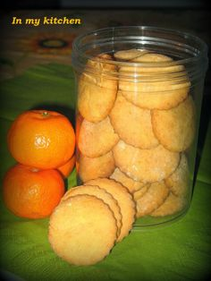 In my kitchen: Mandarynkowe ciasteczka
