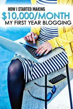 Who says it takes years to grow a successful blog? I hit near a million in pageviews and $10,000/month income by time I was a year blogging! Here's how I started making $10,000/month my first year blogging!