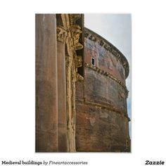 Medieval buildings poster.