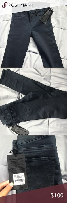 True Religion Runway Legging Brand new, with tags! Authentic True Religion leggings/jeggings! Wish I could fit this 😭😭 the rinse is 2S or Tonal. It's a dark gray-blue. Waist measures 13 inches laying flat.  ✈️ FAST SHIPPING ✈️ 🚫NO TRADES🚫 🎁 BUNDLE DISCOUNTS AVAILABLE🎁 💕REASONABLE OFFERS ARE WELCOMED THROUGH OFFER BUTTON💕  Thanks for shopping loves! Happy POSHING! True Religion Pants Leggings