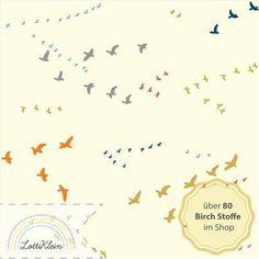 Birch Fabrics Jersey Stoff Flight Multi Vögel von LottiKlein auf DaWanda.com