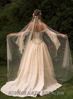 Medieval Renaissance Style Alternative Corset Wedding Gown - Genevieve. $1,150.00, via Etsy.