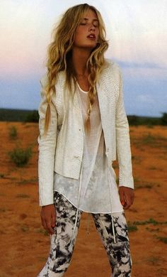 white with printed leggings