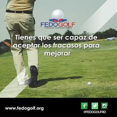 Tienes que ser capaz de aceptar los fracasos para mejorar. Feliz Viernes #fedogolfRd #golf #instagolf #swing #grass #green #field #putter #hoyo #RD #DominicanRepublic #sport #deporte #Backspin #bola #bola #fairway #draw #driver #finish #victory #win #hard #fight #aprende #motivate #triunfa #determinacion #pasion #happy