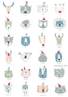 Illustration and surface pattern Illustration Inspiration, Cute Illustration, Motifs Textiles, Doodles, Illustrations And Posters, Animal Illustrations, Kids Prints, Cute Characters, Surface Pattern