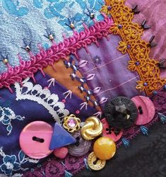 Introducing block 44 on the I Dropped the Button Box crazy quilt - Pintangle