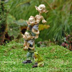 Fairy Homes and Gardens - Stack of Miniature Garden Pixies, $14.63 (https://www.fairyhomesandgardens.com/stack-of-miniature-garden-pixies/)