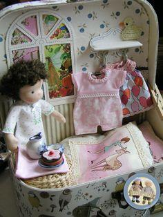 Waldorf dolls Beatka and Bobo - suitcase set by Lalinda.pl