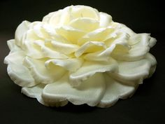 Bridal Hair Accessory Clip Large Ivory Rose Silk Wedding Veil Flower >>> See this great product.