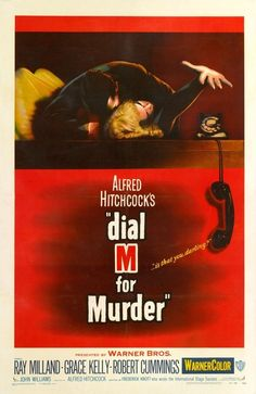 Dial M For Murder (1954) Entertainment Weekly, Quarantine Movie, Dial M For Murder, Cinema Posters, Movie Posters, Robert Cummings, English Movies, Halloween Movies, Vintage Halloween