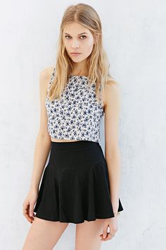 Silence + Noise Godet Mini Skirt