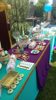 Princess Jasmin Birthday Party Ideas Photo 1 of 36 is part of Princess jasmine party - Peacock Birthday Party, Aladdin Birthday Party, Aladdin Party, Birthday Parties, Frozen Birthday, Birthday Ideas, Eid Party, Disney Birthday, 5th Birthday