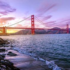Couché de soleil sur le Golden Gate après une magnifique journée de découvertes à San Francisco.  #voyagevoyage #SanFrancisco #Californie #sun #paysage #voyage #blogvoyage #travelblog #travel #instatravel #ilove