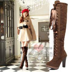 2 colors kawaii fur princess over knees high-heeled boots High Heel Boots, Heeled Boots, High Heels, Kawaii Shoes, Sandals, Stylish, Fur, Princess, Colors