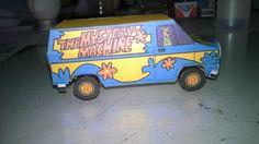 De cartolina: Mystery Machine O Furgão de Scooby-Doo e sua turma...