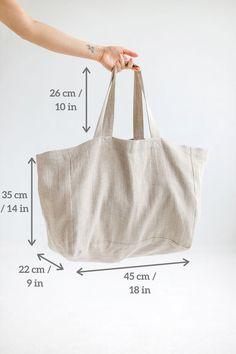 Sacs Tote Bags, Diy Tote Bag, Large Tote Bags, Linen Bag, Fabric Bags, Handmade Bags, Oversized Beach Bags, Large Beach Bags, Sewing