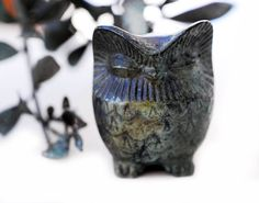 Bronze Owl Verdigris Greek Sculpture  Medium by GreekMythos,