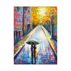 Evoke the romance of the City of Lights with this inspired canvas print, showcasing an impressionistic Parisian scene.   Product: