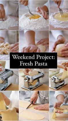 Weekend Project: Fresh Pasta A Food, Good Food, Yummy Food, Learn To Cook, Food To Make, Best Pasta Recipes, Seafood Pasta, Fresh Pasta, Good Enough To Eat