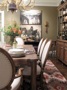 Love how Stanley Furniture showcased this Dinning Room at Las Vegas Market. Available Now at Brashears