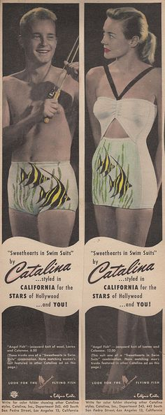 "Catalina Swimwear ""Sweethearts in Swim Suits"" line. This one is called ""Angel Fish"""