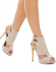 Sarina Peep-Toe Heels
