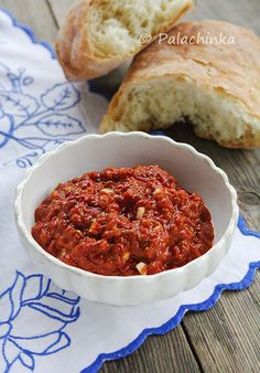 Ajvar- if you have Balkan origins, then you know this is a must-have recipe! - Sanja Karanovic - Ajvar- if you have Balkan origins, then you know this is a must-have recipe! Ajvar- if you have Balkan origins, then you know this is a must-have recipe! Albanian Cuisine, Albanian Recipes, Bosnian Recipes, Bulgarian Recipes, Croatian Recipes, Bosnian Food, Serbian Food, Albanian Food, Paprika Sauce