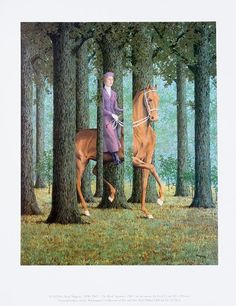 """For Sale on - """"Le Blanc Seing (The Blank Signature),"""" Litho after Painting by Rene Magritte, Lithograph by René Magritte. Offered by David Barnett Gallery. Rene Magritte, Landscape Prints, Abstract Landscape, Abstract Oil, Abstract Paintings, Art Paintings, Painting Art, Landscape Paintings, Magritte Paintings"""