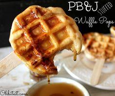 pb j stuffed waffle pops more breakfast pop breakfast ideas pb waffles ...