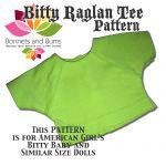 Free Bitty Baby Raglan T-Shirt Sewing Pattern