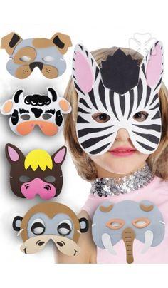 Masque animaux en mousse : accessoire de déguisement