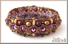 Beautiful beaded bracelet. Love the colours and the design.
