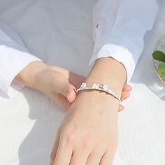 Size: (Open bracelt the size can be adjustable.)Color:As the SilverStyle:Cute/Lover Gift/Girlfriend Gift/CreativeFashion Element: Flower/Cherry/Branch Cute Bracelets, Ankle Bracelets, Silver Bracelets, Fashion Bracelets, Beaded Bracelets, Jewelry Gifts, Fine Jewelry, Women Jewelry, Bridesmaid Bracelet