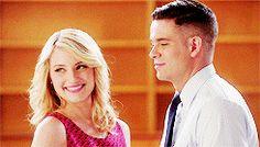 Quinn Fabray Puck Quick Glee Dianna Agron Mark Salling gif