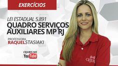 Lei Estadual 5.891: Quadro serviços auxiliares MP RJ - Exercícios - Prof...