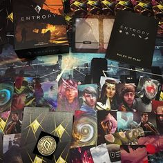 Had the true pleasure of meeting one of the guys from Aussie game publisher #RuleandMake yesterday and he dropped off a few games for coverage. Usually we'd wait for multiple plays before doing that obviously, but we just wanted to highlight one of those games: Entropy. We're really struck by the quality of this game, it's not only beautiful to look at, but also wonderfully crafted. Great stuff, can't wait to get it to the table to see how gameplay is. #cardgames #brettspiel #tabletop…