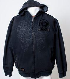 COOGI Luxury Hoodie Sweatshirt Sweater MMA Design Heavy Black Mens 2xl Big Retro #COOGI #Hoodie