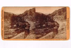 Stereoview Hart CPRR California 228 Truckee River Eastern Summits Tunnel 14 134M | eBay