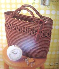 Bag - Crochet on a cord - Photo Tutorial