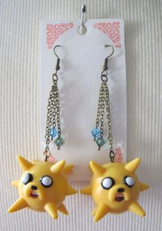 Adventure Time: Jake the Dog Spikey Earrings. $25.00, via Etsy.