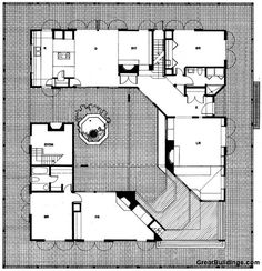 house plans u shaped with courtyards | Courtyard Houses Then and Now | EYE ON DESIGN by Dan Gregory
