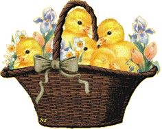 Easter Gif Happy Easter Spring Basket of Chicks Easter Art, Easter Bunny, Gifs, Easter 2018, Baby Chickens, About Easter, Easter Printables, Easter Celebration, Vintage Cards