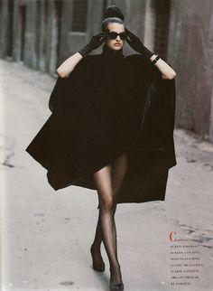 "LIMEROOM 1980's fashion   Linda Evangelista by Peter Lindbergh for ""Immagine"" Vogue Italia Sep 1988"
