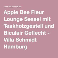 Apple Bee Fleur Lounge Sessel mit Teakholzgestell und Biculair Geflecht - Villa Schmidt Hamburg