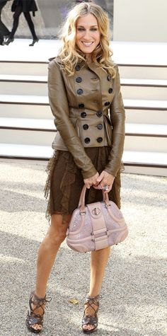 Sarah Jessica Parker's 50 Most Memorable Looks Ever - Burberry, 2011 from InStyle.com