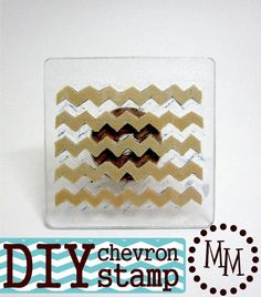 The Scrap Shoppe: DIY Chevron Stamp; very clever Diy Paper, Stamp Making, Card Making, Craft Tutorials, Craft Projects, Craft Ideas, Craft Paint Storage, Origami, Stamps