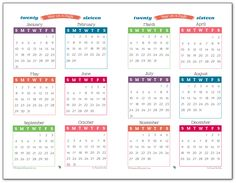 2016 Year on a Page Printable in half-size format. Perfect for highlighting special dates and making long term plans.