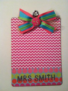 Personalized clipboard by ABsoutherndesigns on Etsy, $15.00